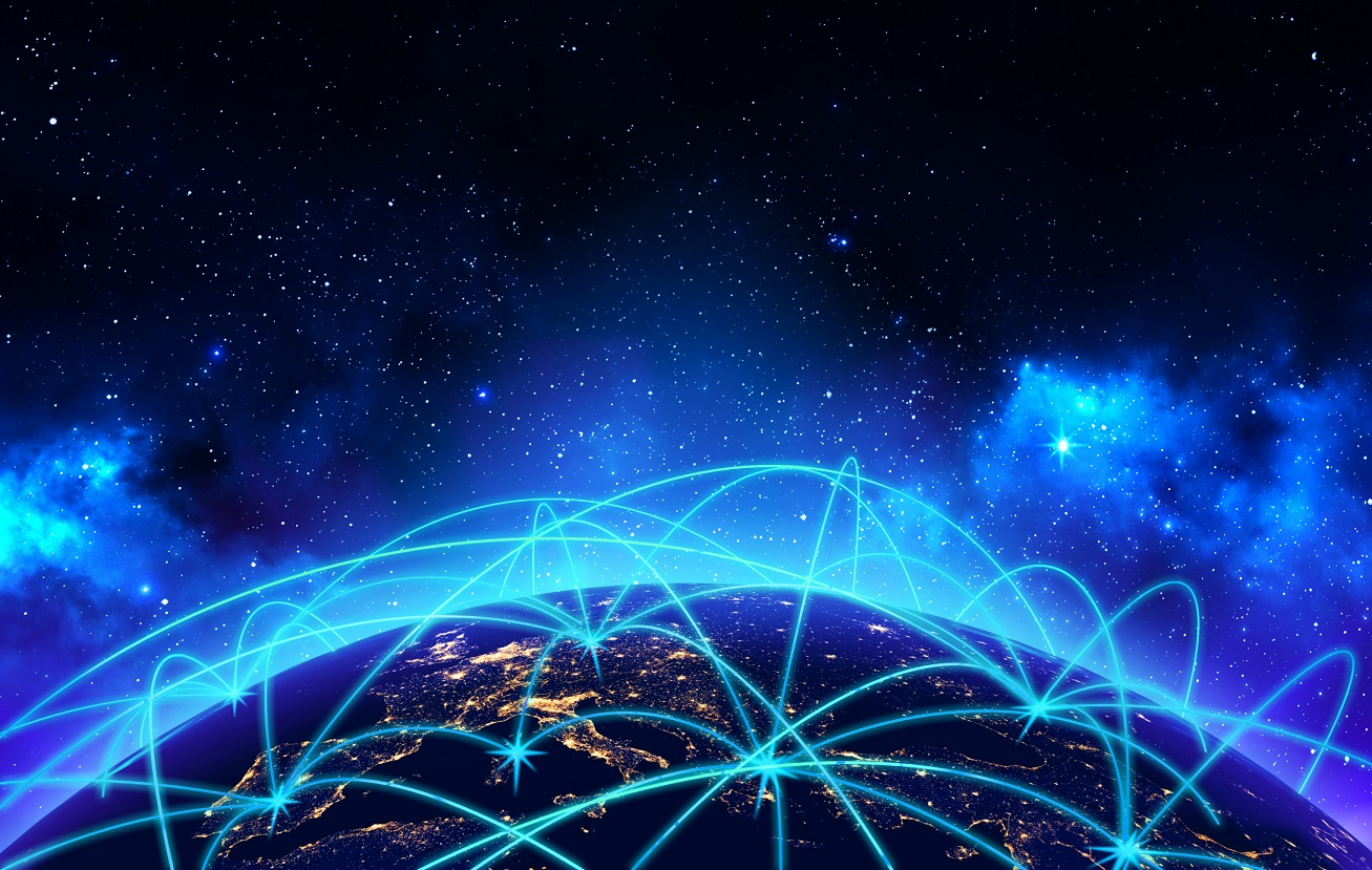 Global network connection and business communication concept